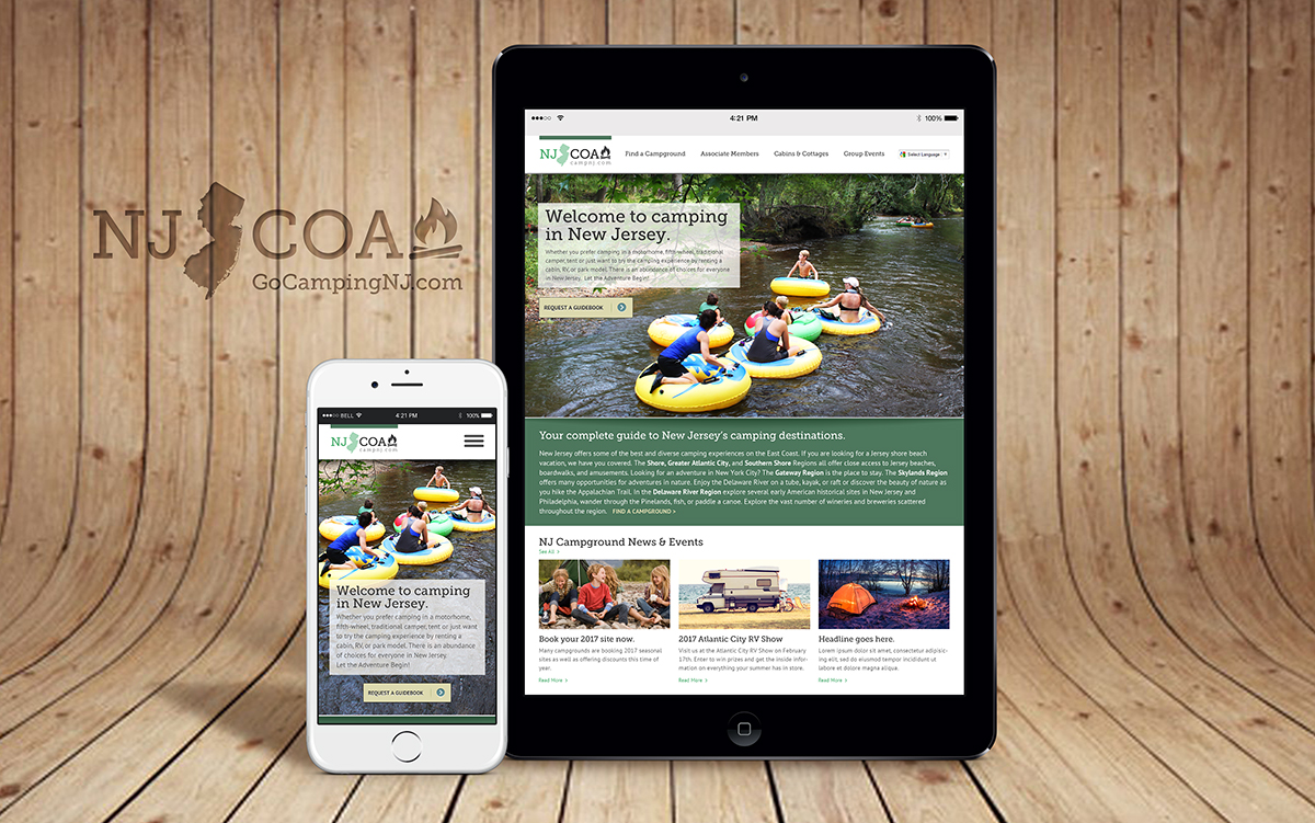 NJCOA Website design & development
